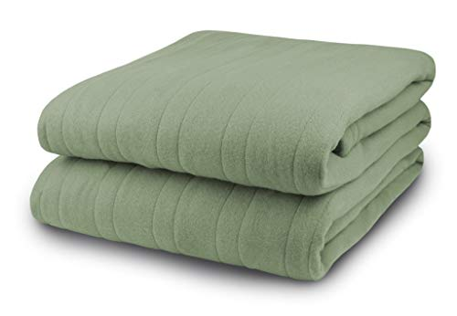 Biddeford Blankets Comfort Knit Heated Blanket, Queen, Sage