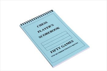 The House of Staunton US Chess Federation Chess Player Chess Scorebook (120 Moves/Game) - Blue