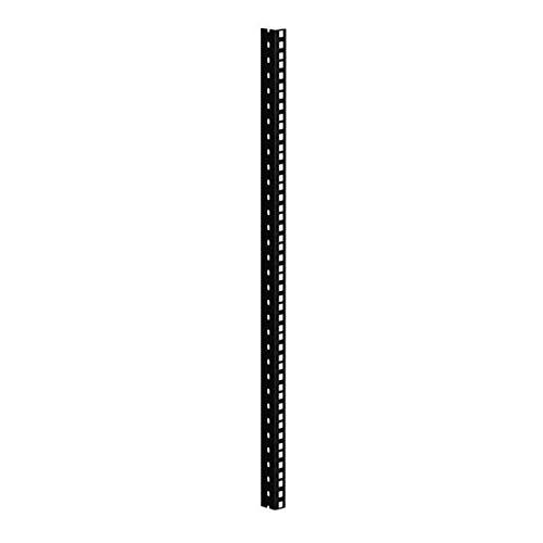 61535B16 Rackschiene, schwarz gestanzte L�cher, 16 HE