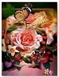 Winrembrandt Pintura De Diamante Flor Rosa 5D Juego De Pintura De Diamante Pintura De Diamante Kit De Pintura De Diamante para Niños Decoración De Pared 40X30Cm
