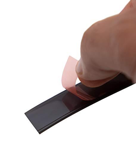 Magnastico Magnetband Selbstklebend Stark Magnetisch 10 mm X 1,5 mm Braun 1 Meter Lang Magnetstreifen Fliegengitter Band Für Haushalt, Schule, Werkstatt Magnetklebeband Küche Fenster Magnetleiste