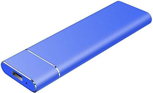 External Festplatte 1TB 2TB Typ C USB 3.1 Portable External Hard DriveExternal HDD Kompatibel für Mac Laptop und PC (2TB-C Blue)