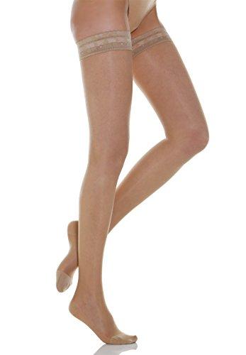 Relaxsan Basic 770 (Carne, tg.2) calze elastiche autoreggenti compressione graduata 70 Den