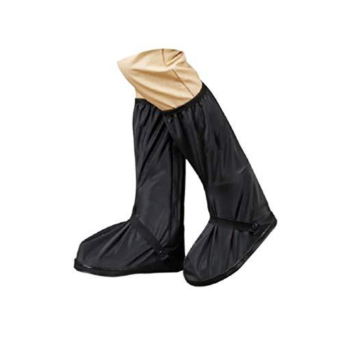 Garneck Cubre Zapatos Impermeables Cubre Botas Antideslizantes Cubre Botas Protectores Reutilizables Cubre Zapatos para Motocicleta Cubre para El Aislamiento Del Hospital Médico Al Aire Libre Tamaño Negro S