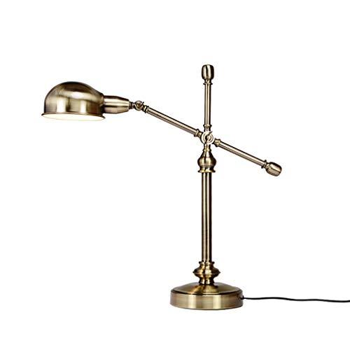 Lampe de bureau Bureau Eye Care étude américaine rétro lumière de lecture réglable adultes Designs simples lampes de table en cuivre