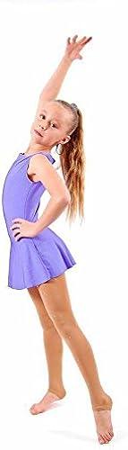 YYRobe TT&HUAXUE Robe de Patinage Artistique Femme Fille Robe de Patinage Compression Haute élasticité Fait à la Main sans Manches Utilisation Tenue de, XS, Eggplant violet