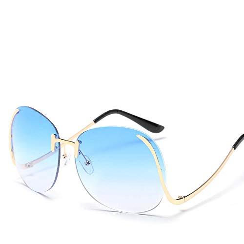chuanglanja Gafas De Sol Mujer Fashion Mujeres/Hombres Gafas De Sol Al Aire Libre Gafas De Sol De Gran Tamaño Mujeres Gafas De Tinte Degradado Pierna Curva UV400-Color-D