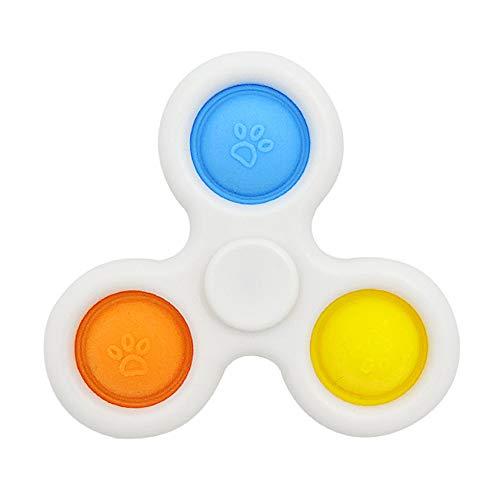 CaLeQi Simple Rotation Dimple Jouet Sensoriel Mini Fidget Dimple Jouet Silicone Gamepad Flipping Board Toy Jouet éducatif Précoce Soulagement du Stress Jouet Sensoriel pour la main Jouet de