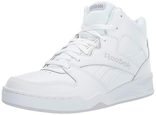 Reebok Men's BB4500 Hi 2 Sneaker, White/Light Solid Grey, 7.5 Wide