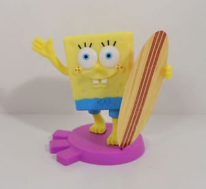 Bobblin' Spongebob Surger Toy - 2011 Burger King Bikini Bottom Souvenir Shoppe