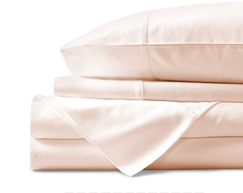 Mayfair Linen 800 Thread Count 100% Egyptian Cotton Sheets, Ivory Queen Sheets Set, Long Staple Cotton, Sateen Weave for Soft and Silky Feel, Fits Mattress Upto 18