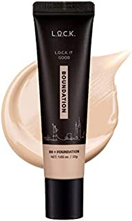 Lock color, Lock It Good Boundation (2 in 1 Multi-use, Foundation+BB Cream), Lightweight, Blends Naturally, Flawless Finis...