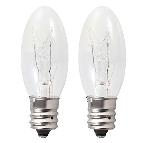 OSALADI 12 Bombillas de Lámpara de Sal E12 15W 110V Lámpara de Roca Salina Del Himalaya Bombillas de Repuesto de Luz Cálida para Lámparas de Sal Candelabros Caseros