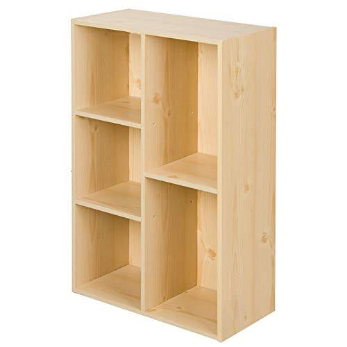 HM&DX 5-Cube Bücherregal Offene ablage,Zeitgenössische Holz Bücherschrank Aufbewahrungsregal...