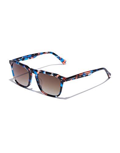 HAWKERS Gafas de Sol Eternity Carey, para Hombre y Mujer, con Montura Estampada y Lentes Efecto Degradado, Protección UV400, Marrón/Azul, One Size Unisex Adulto