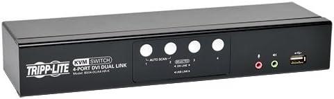 Tripp Lite 4-Port DVI Dual-Link/USB Desktop KVM Switch with Audio & Cables (B004-DUA4-HR-K)