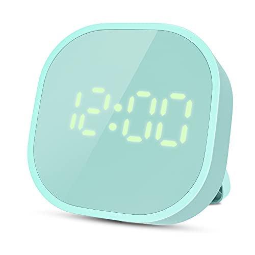 Kitchen Timers for Cooking, Digital Alarm Clock Timer for Kids Magnetic LED Smart Sensor Countdown Timer Loud Alarm Clock for Heavy Sleepers Bedroom Kitchen Desk Classroom Teacher Study Green