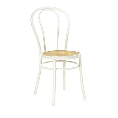 Silla Thonet de madera curvada, asiento de paja de Viena, vintage, hecha a mano, fabricada en Italia