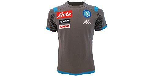 Kappa Ayba 3 Napoli, Camiseta para niño, Gris/Azul