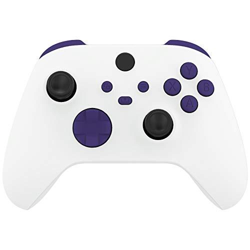 eXtremeRate Botones Completo para Mando Xbox Series S X Botón de LB RB LT RT Bumpers Triggers Gatillos Superiores D-Pad ABXY Start Back Sync Share Botones para Control Xbox Series X/S-Violeta