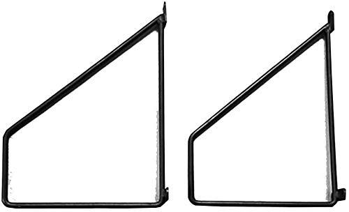 DX beugel wit beugel muur gemonteerde houder bloempot houder rack 90 graden hoek hoek met schroeven L rechter hoek beugel 2 stks Max belasting 100kg (Maat: 25cm)