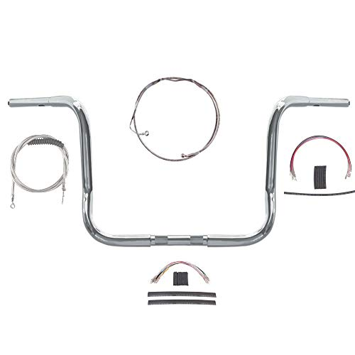 1 1/4' Chrome Wild 1 12' Handlebar Kit for 2008-2013 Harley-Davidson Electra Street Glide models with ABS brakes - BSC-0601-1096-ESG08-ABS