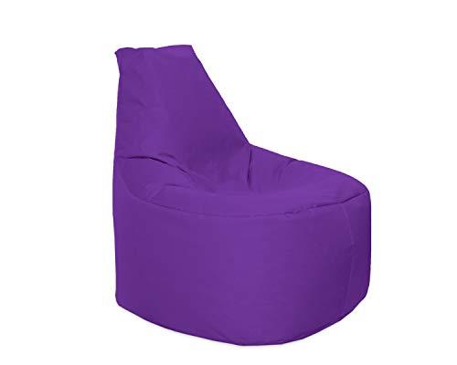 Lacasa Sitzsack XL-XXL Outdoor Indoor- Wasserdicht Wetterfest-Bodenkissen Sitzkissen Beanbag- Erwachsene Kinder- Gaming Sessel- EPS StyroporFüllung- Hochwertiges Oxford 600D (XL - 69 cm Ø, Lila)