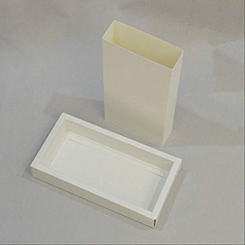 Kraft Paper Bag 20pcs Craft Large Package Box Embalaje Kraft Envío Caja de Regalo Blanco Negro Caja de cartón Interior 12X12X3Cm Blanco