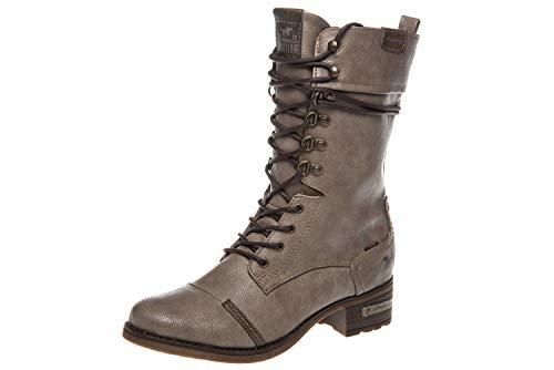 Mustang Shoes Stiefeletten in Übergrößen Taupe 1229-509-318 große Damenschuhe, Größe:45