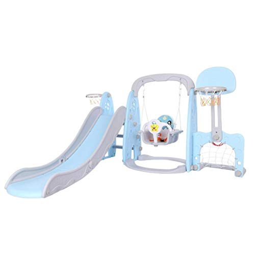 5 in 1 Kids Indoor And Outdoor Slide Swing And Basketball Football Set,Baby Multi-function Slide,Children's Slide Frame, Climbing Stairs, Unisex,Indoor And Outdoor Use(Suitable for:3-9 years old)