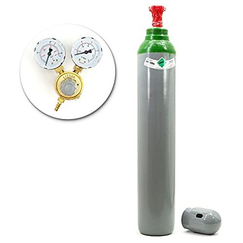 Botella de gas con reductor puro 4.8 Argón (100%), 10 litros TIG/WIG MIG