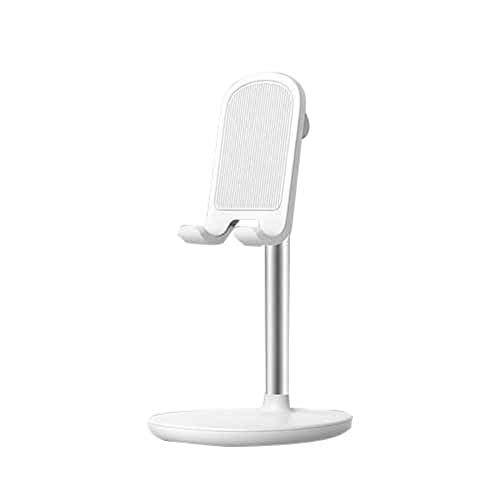 YAMAZA Soporte de escritorio para teléfono móvil, soporte ajustable de 45°, compatible con teléfonos móviles de 4 a 12,9 pulgadas y dispositivos tableta, soporte de metal, portátil, soporte universal