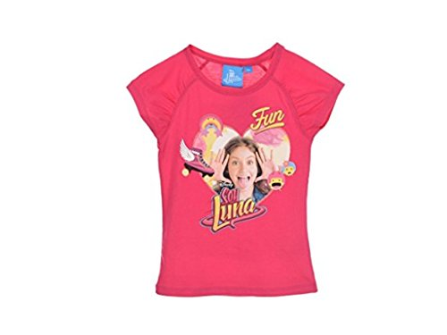 Soy Luna - Camiseta de Manga Corta - para niña Fucsia 6 añ