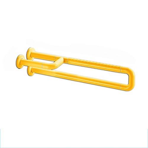 HStuiche Barandillas Montaje en Pared Baño Rieles de Barra Apoyabrazos for Inodoro en Forma de U, Pasamanos for Inodoros Ancianos, Manija Segura y sin Barreras (Color: Blanco) (Color : Yellow)