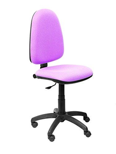 PIQUERAS Y CRESPO Modell 04CP Ergonomischer Bürostuhl mit Permanentkontaktmechanik und höhenverstellbar Sitz und Rücken gepolstert in Stoff BALI flieder