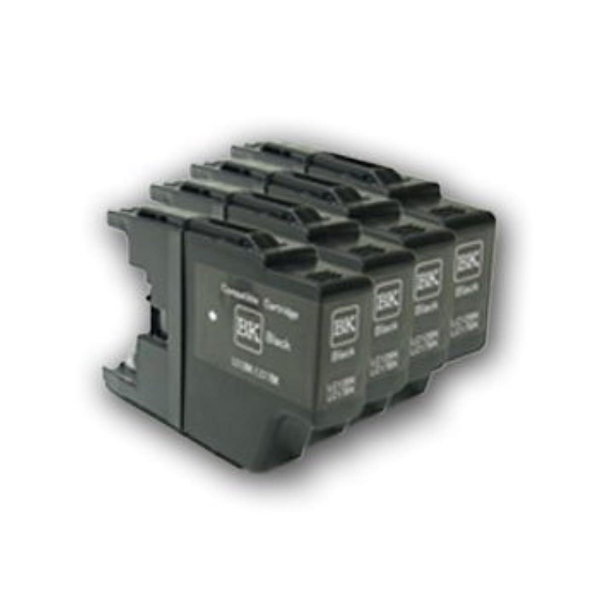 クラウンカスタム知覚できる汎用?互換インクカートリッジ ブラック4本セット LC12BK