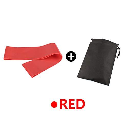 Fitness goma resistencia banda de ejercicio tira de goma anillo de látex gimnasio entrenamiento de fuerza yoga fitness equipo expansor rojo con bolsa