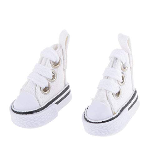 Uteruik Zapatillas de deporte Casual Blanco Zapatos de Lona para 1/6 Blythe/Momoko/AZONE Muñecas Ropa