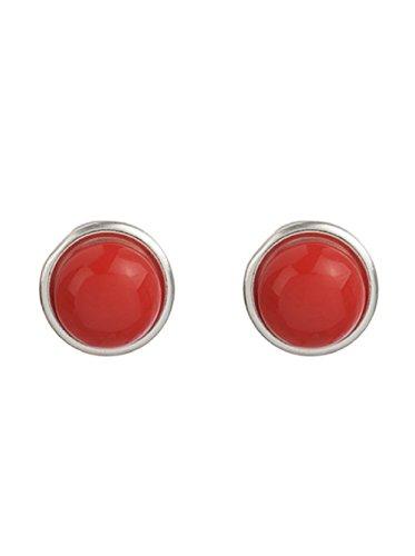Córdoba Jewels | Pendientes en plata de Ley 925. Diseño Media Esfera Coral 10mm