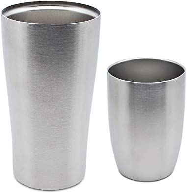 Stainless Steel Tumblers 16oz and 8oz Double Wall Vacuum Insulated Travel Mug Large Metal Water product image