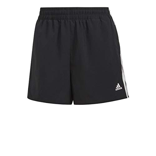 adidas W 3S WV SHO Pantaloncini, Black/White, 2XL Donna