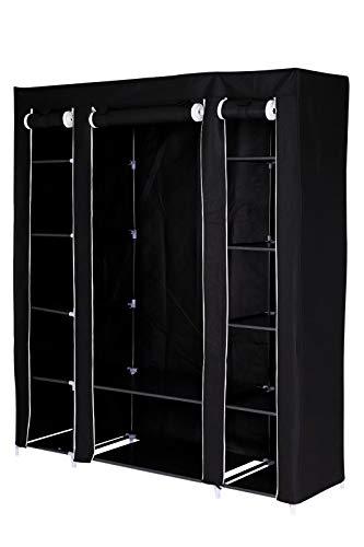Armarios De Tela Para Ropa Resistente Color Negro armarios de tela  Marca dibea