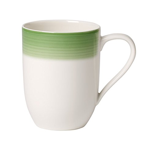 Villeroy & Boch Colourful Life Green Apple Kaffeebecher, Premium Porzellan, Weiß, 10 cm
