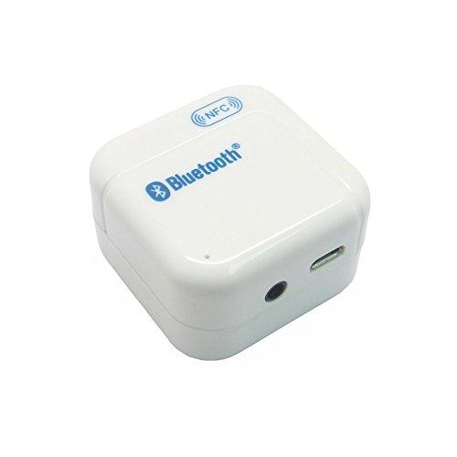 Sienoc Bluetooth Streaming Empfänger / Receiver / Adapter Analoger 3,5mm Klinken Ausgang für Surround und Stereoanlage mit NFC Weiß