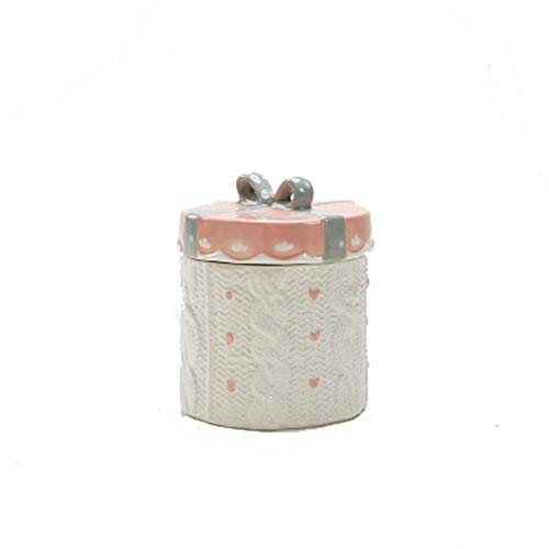 WXMJ - Urna de cerámica para Mascotas, urna de café, tarros conmemorativos de Animales, Suministros de Funeral a Prueba de Humedad (Color: Rosa)