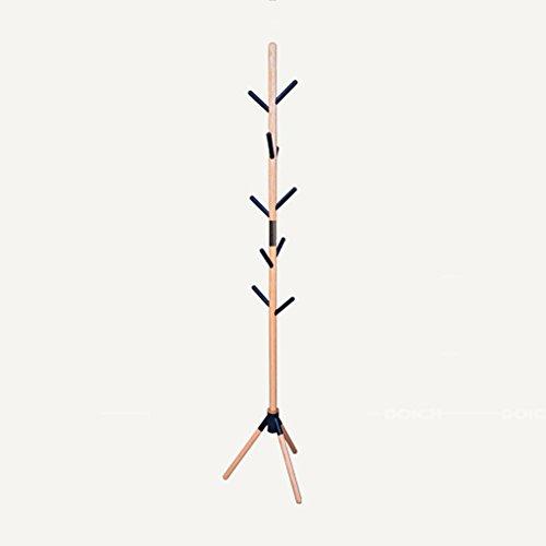 LIANGJUN Plancher Debout Écharpe Porte-Manteau Bois Massif Forme De Brindilles d'arbre 10 Crochets, 50X180cm Portemanteau