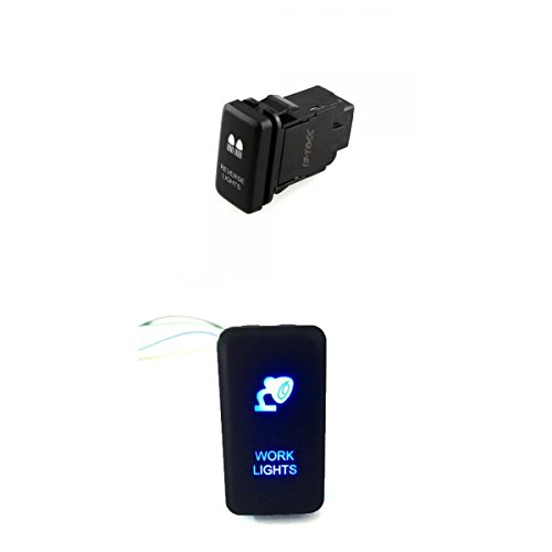 D dolity 2unidades 3A LED iluminado Interruptor Interruptor Botón Interruptor toggle Switch verdrahtet