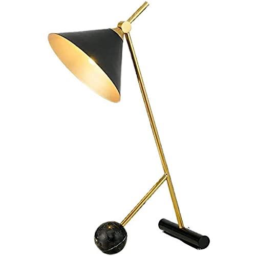 Lámpara de mesa de decoración moderna, altavoz de metal creativo Lámpara de mesa de pantalla de diseño simple Lámpara de escritorio Lámpara de noche de mármol,Negro