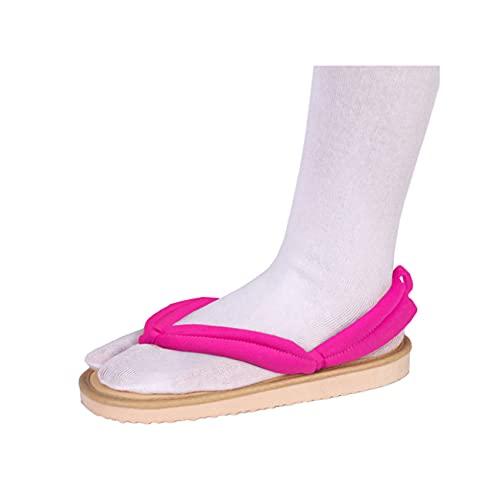 chisatowww Demon Slayer Cosplay Zuecos de Zapatos Mujer Kamado Tanjirou Kochou Shinobu Flip Flop de Estilo japonés Unisex Accesorios de Anime Unisex