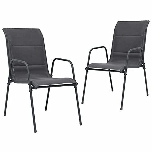 Ksodgun Stapelbare Gartenstühle 2 STK....